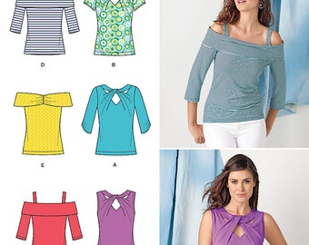 Simplicity Pattern 1613 Misses Tops