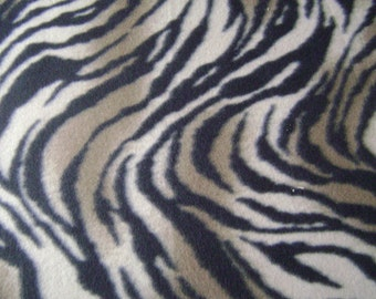 Zebra Print Fleece Fabric by the yard