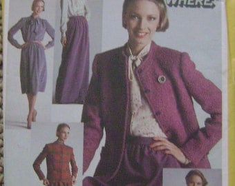 VINTAGE Simplicity Pattern 9714 Misses' Go-Everywhere Blouse, Skirt in Two Lengths and Lined Jacket