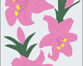 Day Lilies Handcrafted Applique House Flag