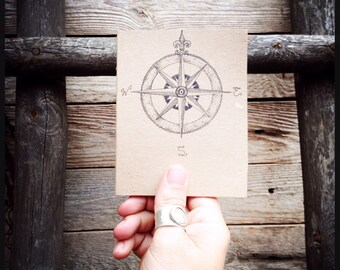Compass journal-sketchbook