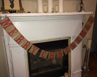 Merry Christmas banner~Handmade Custom Christmas banner