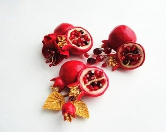 Pomegranate brooch
