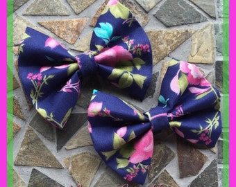Colorful Florals: Floral Multicolored Hair Bow Set