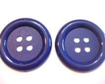 """Blue Clown Buttons 2 1/2"""" Extra Large Nylon Set of 2"""