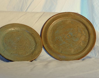 Decorative Plate Set with Leaf Imprints