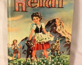 Heidi : Johanna Spyri Hardcover Vintage Book