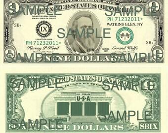 Phish Super Ball IX 9 Dollar Bill