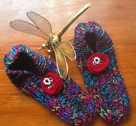 Knitting Pattern For Ladies Bed Socks : Hand knitted Ladies / Girls Bed Socks / Bed Slippers X-Large