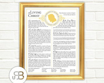 The Living Christ - LDS Testimony of the Apostles - Printable Design - PDF File