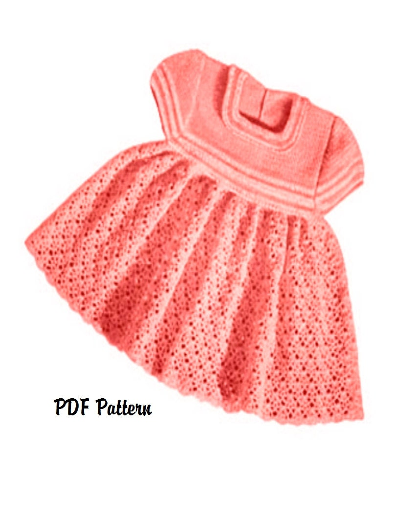 Vintage Crochet Baby Dress Patterns Ficts