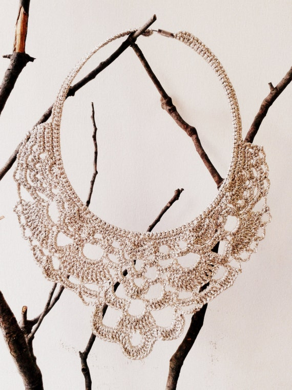 Champagne Crochet Necklace