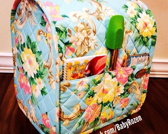 BabyRozen~Custom Quilted KitchenAid Mixer Cover~ SIS Boom fabric~Kitchen~Baking~Cozy~Made To Order~