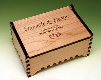 Custom Laser Cut and Engraved Wooden Jewelry Box
