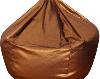 Metallic Copper Denim Bean Bag
