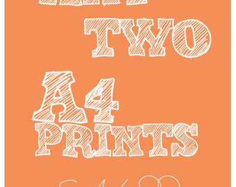 Any Two A4 Prints offer.
