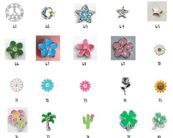 Floating Locket Charms 61-80