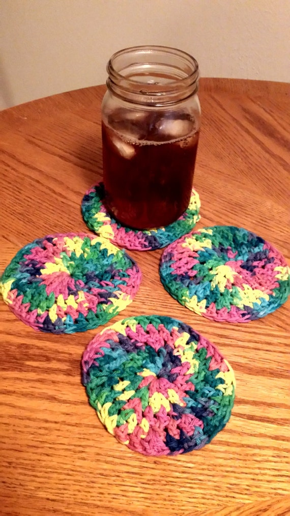 Cotton Crochet Drink Coaster Sets Choice By