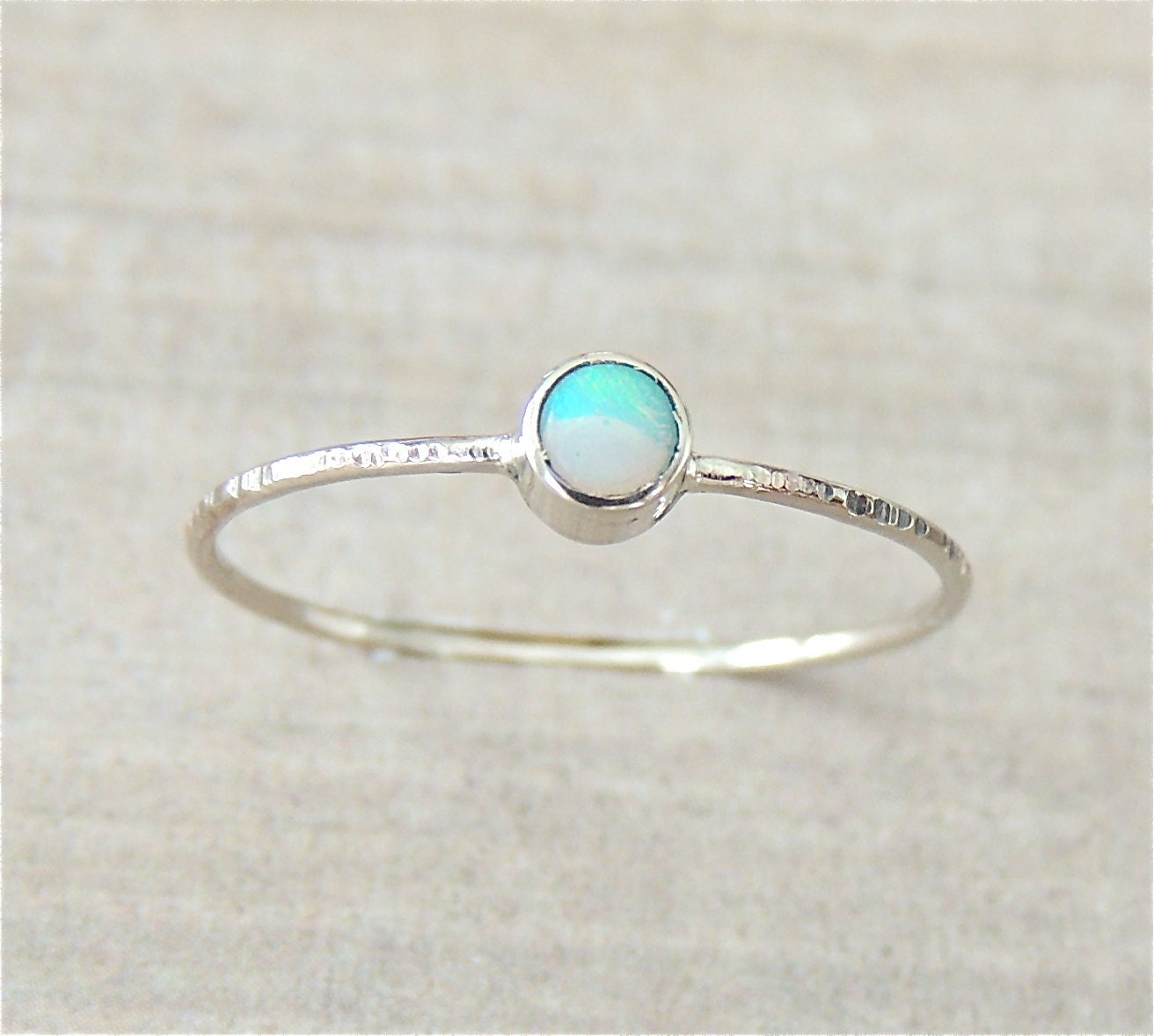 white gold ring opal gold ring opal ring stack ring by
