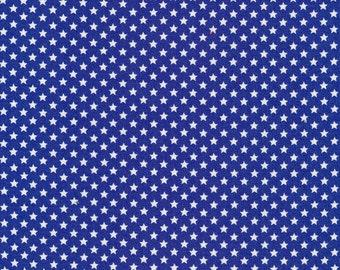 White Stars on Dark Blue Background,                     Fabri-Quilt #               120-3074