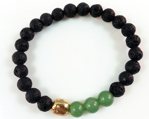 unisex lava bead bracelet free shipping by duelingco