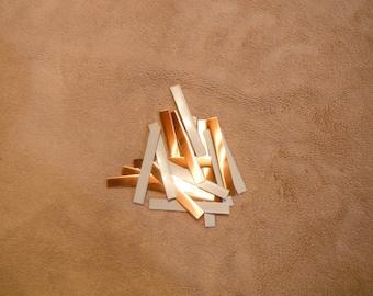 """1/4"""" x 2"""" solid copper 16oz (24gauge) 40 pcs."""