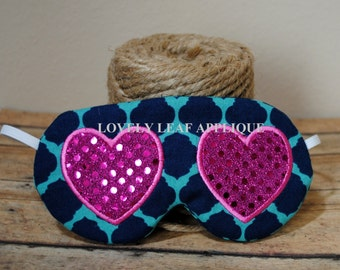 DIGITAL ITEM: Heart Sleep Mask ITH Design 2 sizes