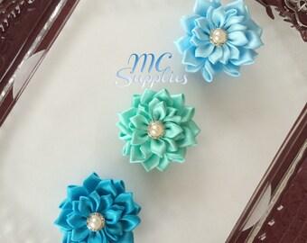 Fabric flowers,flower girl flowers,hair clip accessories,hair flowers,headband flowers,ribbon flowers,baby headband flower,hair flowers143