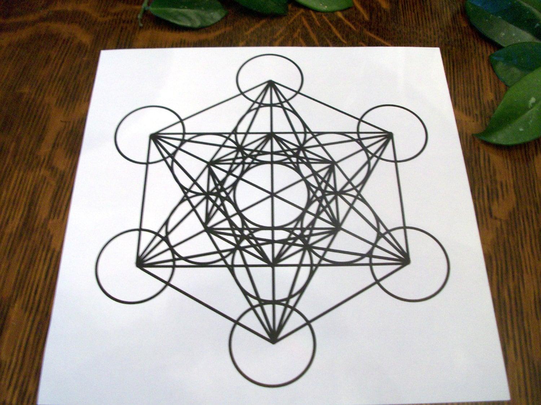 8 5x8 5 archangel metatron sacred geometry crystal