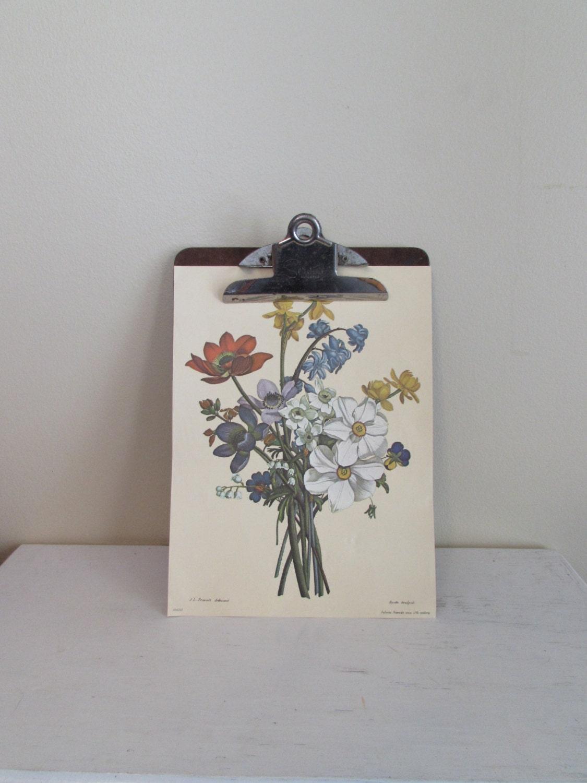 Clipboard Wall Art : Vintage clipboard shabby chic wall decor by maryandgeneva