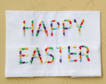 Jelly Bean Happy Easter Embroidery Design