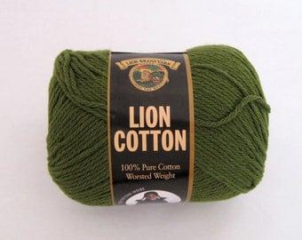 3 Green Cotton Yarn Lion Brand Craft Supplies