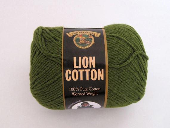 Green Cotton Yarn Lion Brand Craft Supplies By Talicakecrochet