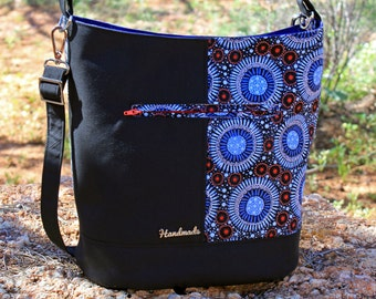 Bonnie Bucket Bag in Wild Flora Aboriginal Fabric
