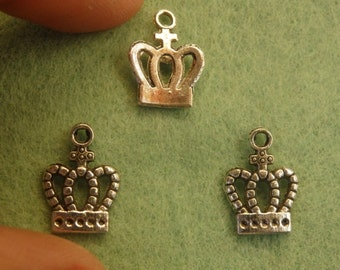 20 crown charm tibetan silver antique tone jewelry making wholesale