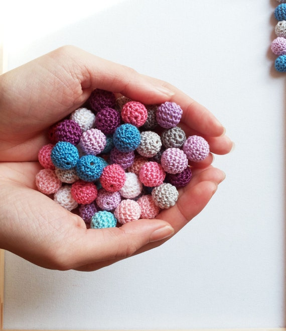 Small Size Beads: Crochet Beads Small Sizes 13mm 15mm Colourful By Fiscraftland