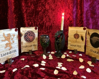 Game of Thrones themed Wedding table Décor, Wedding table placement cards, Wedding table numbers, Medieval wedding