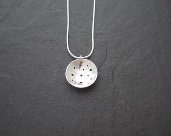 Sterling silver Domed pendant