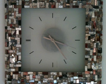 Big wall clock- Precious glasses handcut and Millefiori Murano.