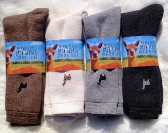 Island Alpaca Baby Alpaca Sock, Our Signature Alpaca Sock, Warm Mens and Womens Sock. Gift for Christmas, Hanukkah, Stocking Stuffer!