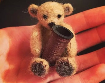 mini bear wool felt/needle felt