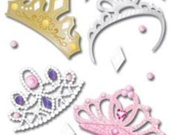 Ek Success Jolees Boutique 4 TIARAS Dimensional Stickers
