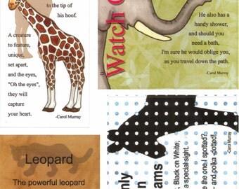 Tumblebeasts Animal Antics STUCK ON POETRY Cardstock Stickers