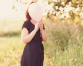 Dreamy girl with balloon - print