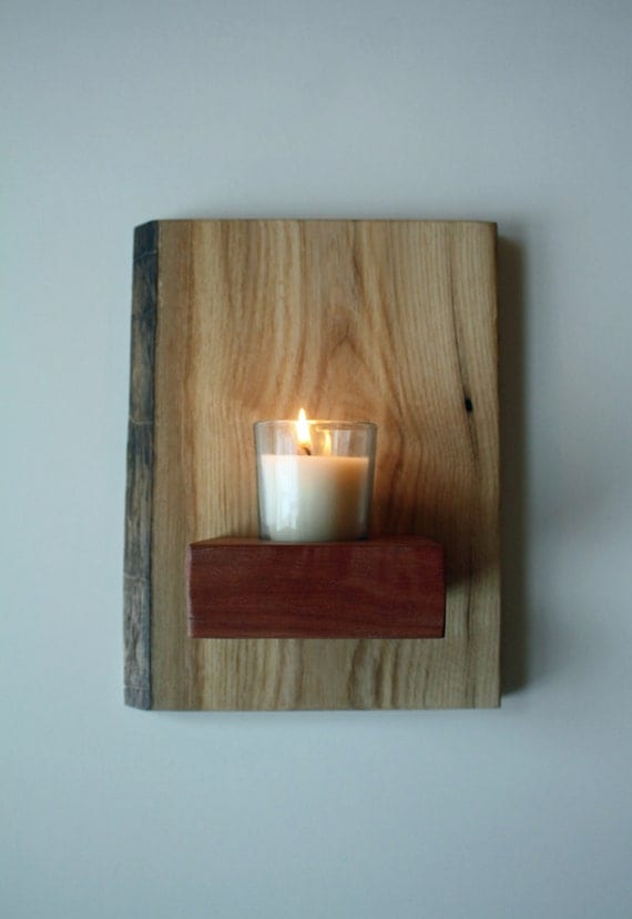 Wall Mounted Votive Sconce & Candle Holder