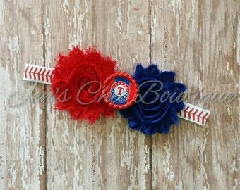 Texas Rangers elastic infant, toddler, or adult headband