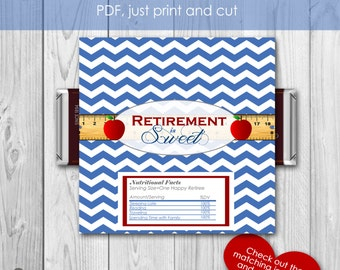 Teacher Retirement Hershey Bar Wrapper Favor