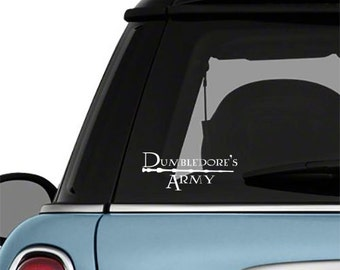 Dumbledore's Army Car Decal Harry Potter Vinyl Wall Decor