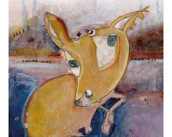 Art Print 40x50 | roe deer | Martina Lengers
