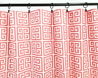 greek key curtain | etsy